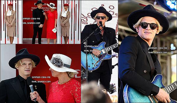 07/11/15 ♦ Cody Simpson était présent aux Emirates Stakes Day à Flemington Racecourse dans Melbourne.