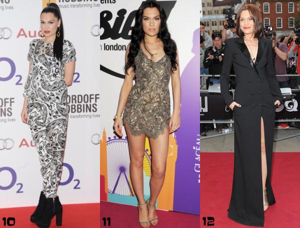 Jessie J : Le meilleur et le pire du tapis rouge en 2012