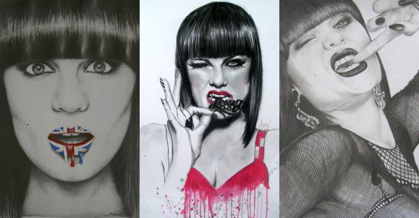 Découvrez des beaux dessins de Jessie J trouvés sur internet :