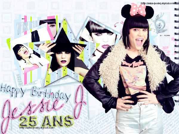 Jessie J fête ses 25 ans !