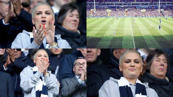 """07 Avril 2013 - Jessie J était présente au stade """"White Hart Lane"""" pour soutenir l'équipe de foot """"Tottenham Hotspur""""."""
