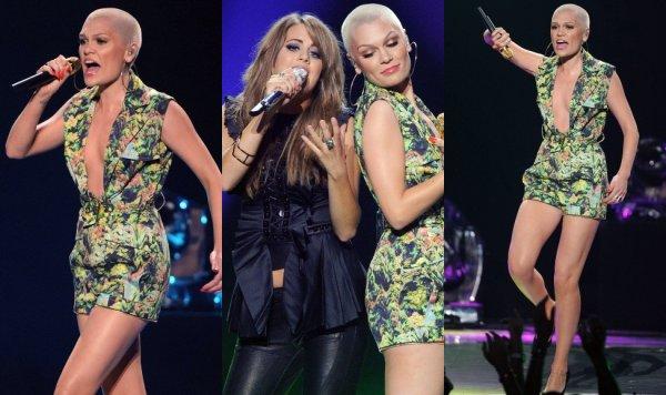 """16 Mai 2013 - Jessie J était présente sur le plateau de """"American Idol"""" à Los Angeles pour chanter son tube «Domino» avec la finaliste Angie Miller."""