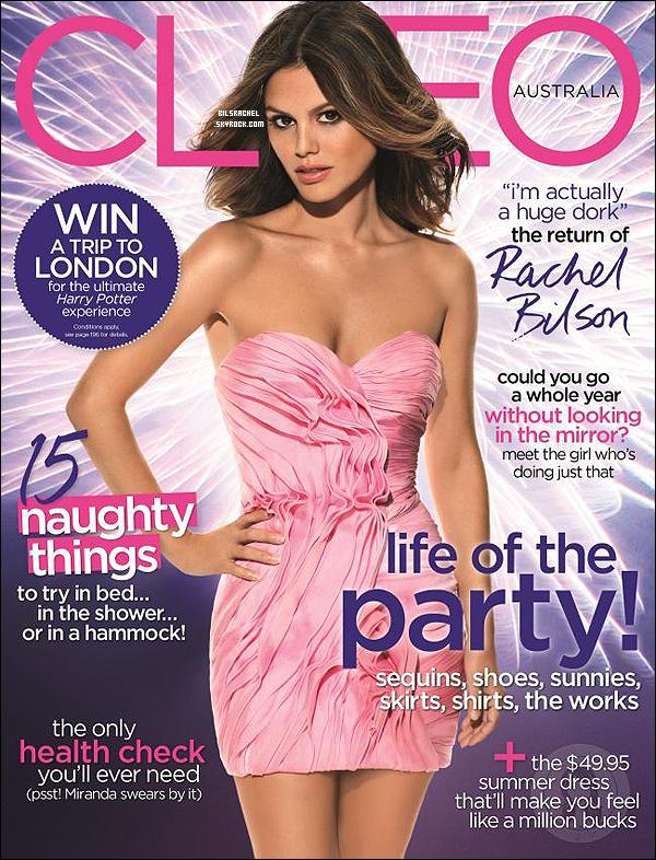 Rachel fait encore la première de couverture cette fois-ci pour le magazine australien Cleo de l'édition du moi de Décembre.