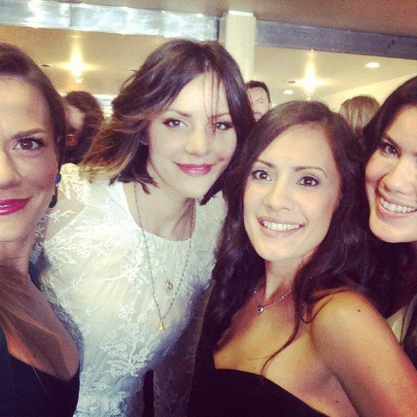 11 Juin 2013 - Joy était à la première de la saison 6 de la série True Blood. Elle y était avec Kelly Overton, Katharine McPhee (SMASH). Sa robe est signée Hervé Léger.