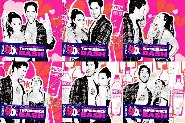 31 Janvier 2013 - Joy, Wes et Daphne Zuniga (Victoria Davis dans One Tree Hill) étaient tous à la SVEDKA Vodka's 90's Throwback Valentine's Day Bash. Bon Joy, WHAT THE HELL IS THIS OUTFIT ?!  C'est un flop  par contre j'aime beaucoup le bogolan sur son haut.
