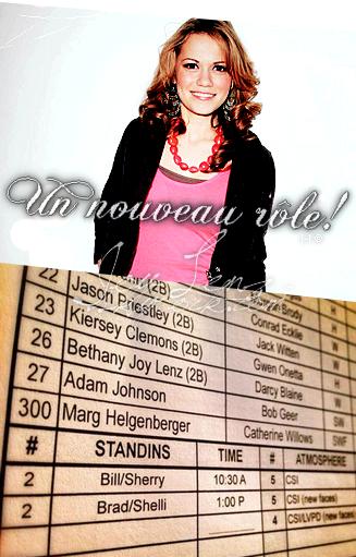 Joy a eu un rôle dans CSI/Les Experts ! Son personnage s'appelle Darcy Blaine et apparaîtra dans le 300ème épisode de la série qui sera diffusé le 23 Octobre. (On peut également voir le nom de Jason Priestly aka Brandon Walsh dans Beverly Hills 90210)