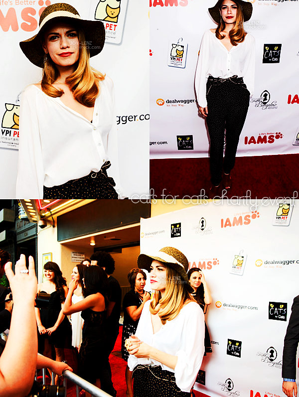 13 Juillet 2012 - Joy s'est rendue au  CATS celebrity charity event.