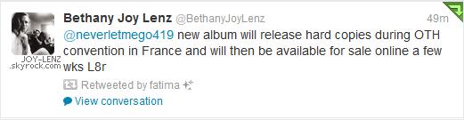 Joy a posté cette photo sur Twitter.