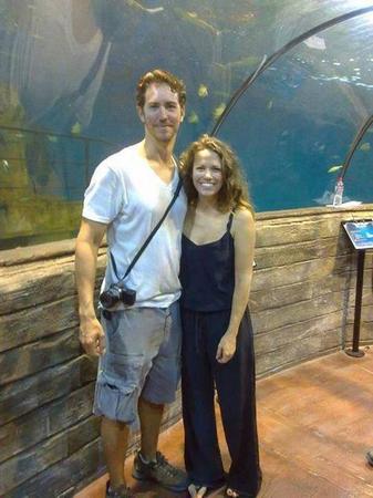 Joy et Wes à l'aquarium du Malte.