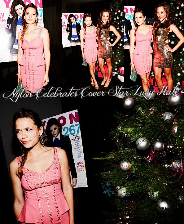07 Décembre 2012 - Joy était à la soirée organisée par le magazine Nylon à Andaz West Hollywood pour la couverture du numéro Décembre/Janvier avec Lucy Hale. Elle est toute élégante, sa robe est signée Bebe.