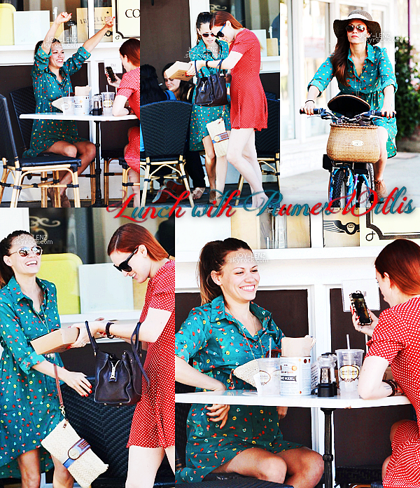 08 Novembre - Joy et Rumer Willis (sa co-star dans Songbyrd) ont déjeuné au Sweet Butter Kitchen à Sherman Oaks. Oh lala, j'adore sa tenue, c'est un top.