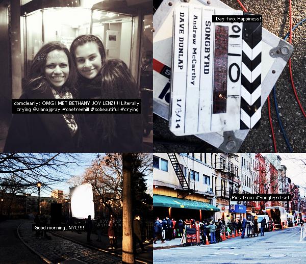 Le tournage de Songbyrd a débuté hier à New York ! Voici quelques photos du set et une de Bethany et une fan qui a eu la chance de la rencontrer.