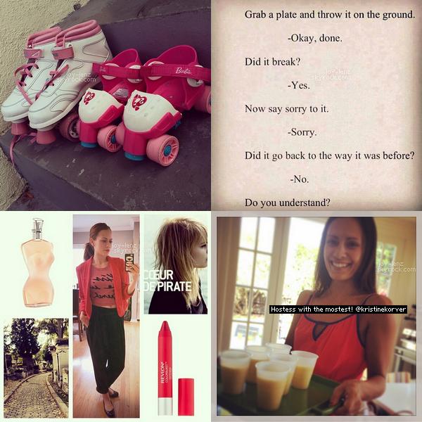 Les dernières photos que Bethany a posté sur IG.