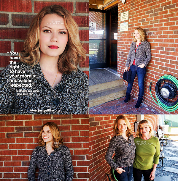 Des photos de Bethany Joy Lenz pour la campagne Dating Bill of Rights Just Yell Fire.