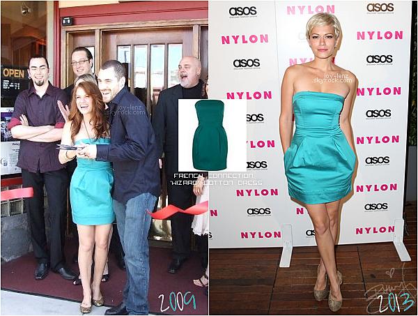 On dirait bien que Bethany Joy Lenz adore sa robe French Connection 'Wizard' en coton. Elle l'a porté deux fois, à l'ouverture du restaurant Galeotti's en 2009 et à une fête organisée par le magazine Nylon l'année dernière. Elle n'est pas la seule à avoir craqué pour cette robe comme vous pouvez le voir. Sa co-star de One Tree Hill Sophia Bush, Hayden Panetttiere et Meaghan Martin (Tess dans Camp Rock) ont également succombé au charme de cette jolie robe.