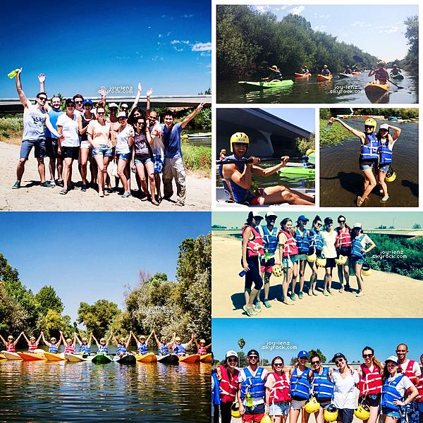 20 Aout 2014 - Bethany Joy Lenz, Daphne Zuniga, Torrey DeVitto et d'autres amis sont allés faire du kayak sur la rivière de Los Angeles.