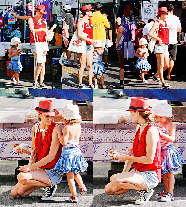07 Septembre 2014 - Bethany Joy Lenz et sa fille Maria Rose étaient au Farmers Market.