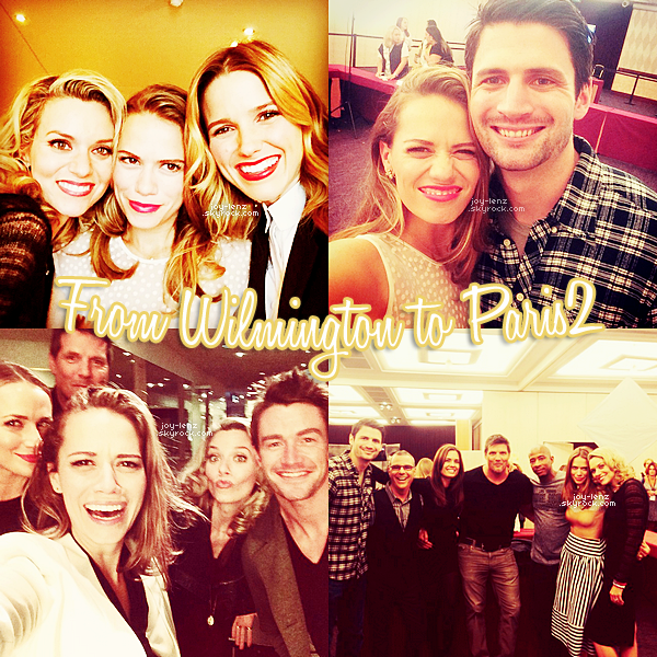 18 Octobre 2014 - Comme prévu, Bethany Joy Lenz et ses co-stars de One Tree Hill se sont retrouves au Hyatt Regency Étoile de Paris pour la deuxième édition de la convention From Wlimington To Paris.