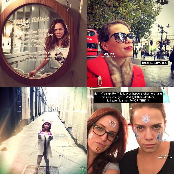 Voici des photos personnelles de Bethany Joy Lenz à Londres.