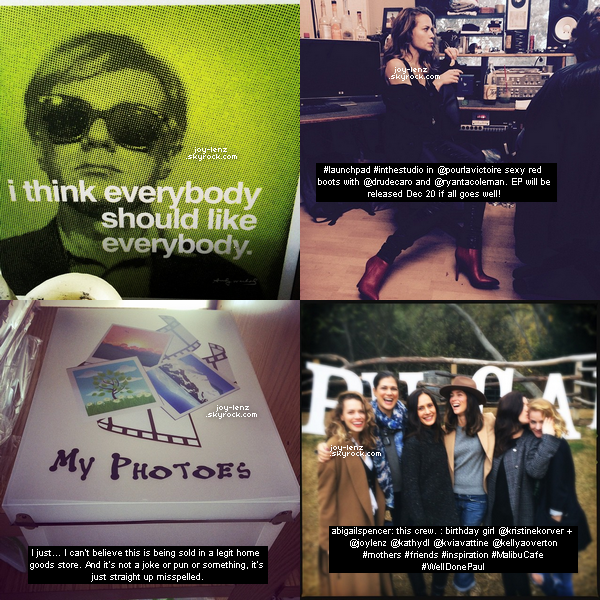 Les dernières photos postées sur Instagram.