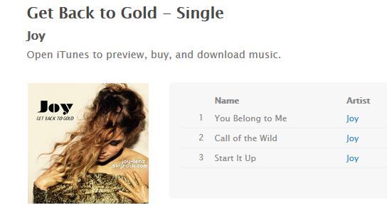 Get Back to Gold est enfin disponible au prix de $2.97 pour 3 chansons! iTunes ou Amazon.