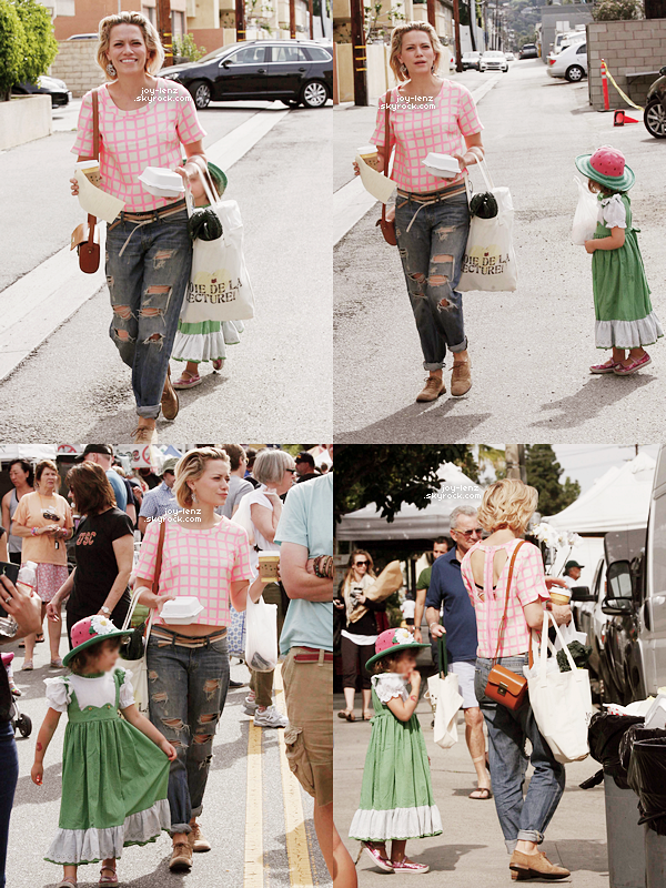 15 Mars 2015 - Bethany Joy et sa fille Maria étaient au Farmer's Market.