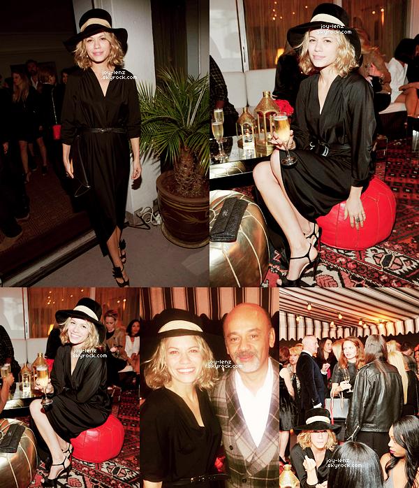 09 Novembre 2015 - Bethany était au Christian Louboutin Cocktail Party; elle a même eu la chance de rencontrer le créateur de chassures!