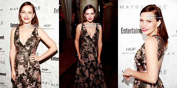 28 Janvier 2017 - Bethany Joy était à la soirée organisée par Entertainment Weekly pour les SAG Awards au Chateau Marmont à Los Angeles.