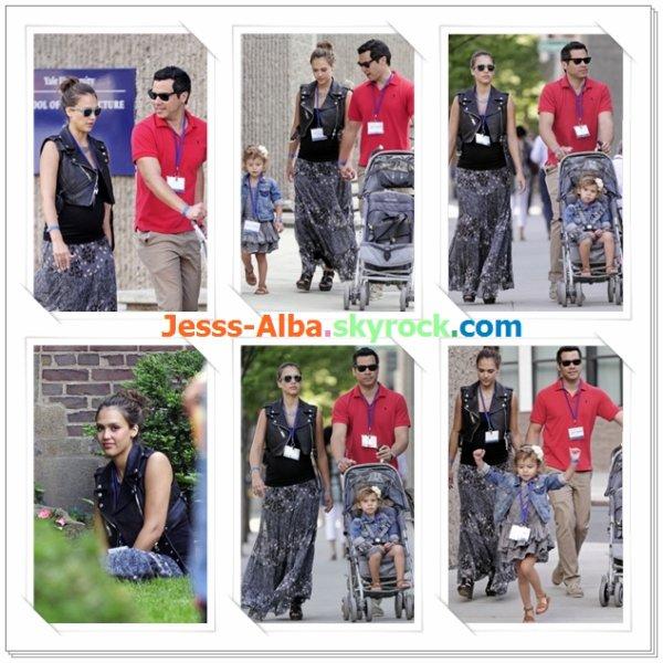 Samedi 4 Juin: Jessica et son mari à une réunion de l'université de Yale.