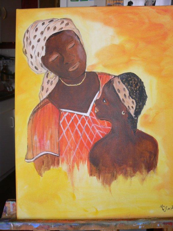 je ne suis pas allee en afrique mais  j'adore la peindre