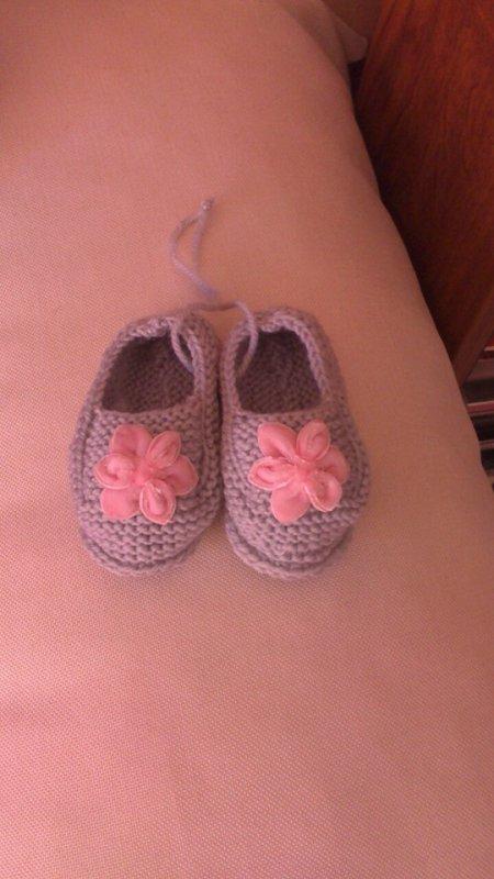 petites ballerines en gris et rose
