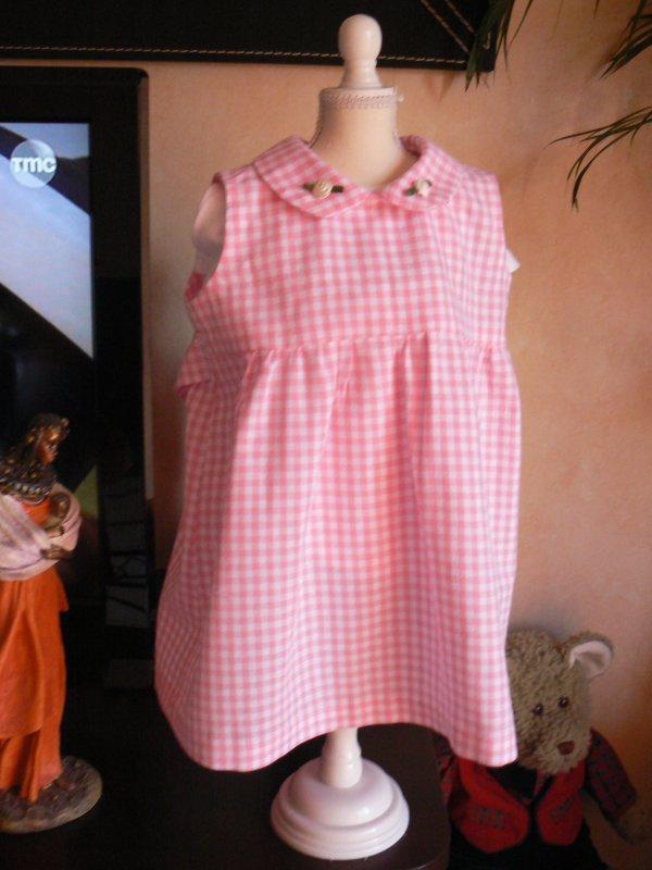 petite robe en vichy rose