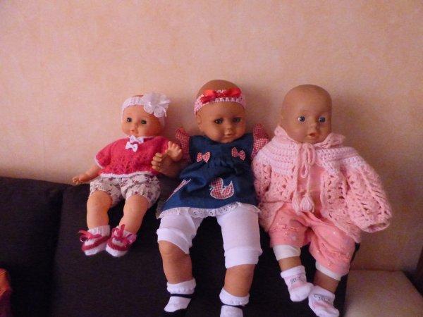 les poupées qui seront sur mon stand dimanche'(vide grenier)