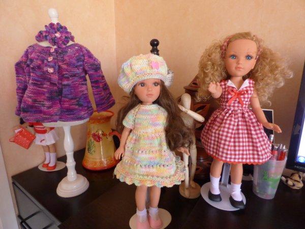 deux princesses espagnoles et petit cardigan fille
