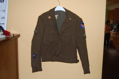 veste us army ww2 avec badge