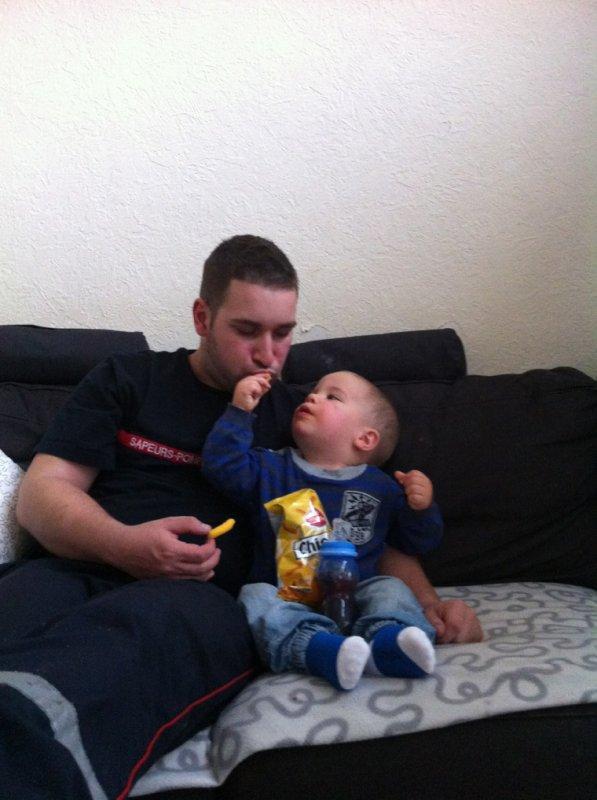 Enzo et papa