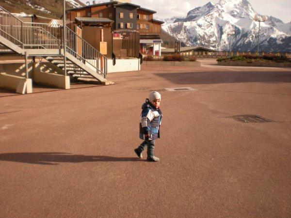 Enzo a la montagne