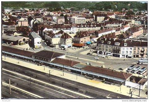 ancienne photo de creil ann e 1970 le centre ville et la. Black Bedroom Furniture Sets. Home Design Ideas