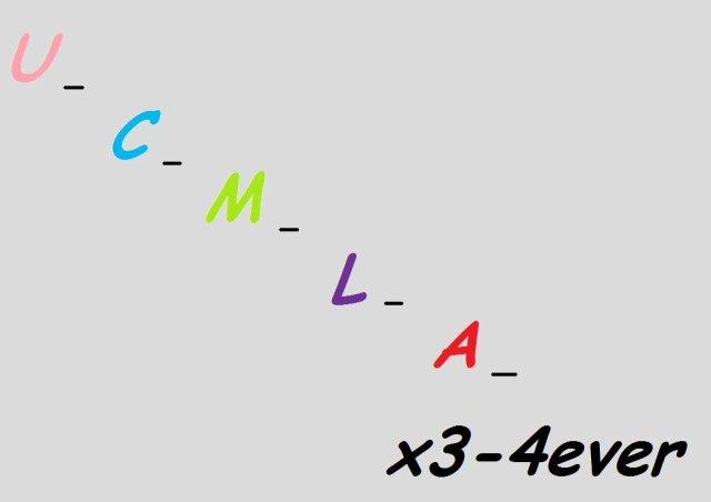 U-C-M-L-A-x3-4ever