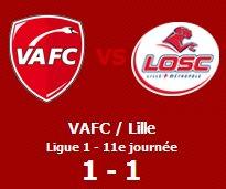 ____ Valenciennes / Lille  11e Journée ; Résumé.   ____