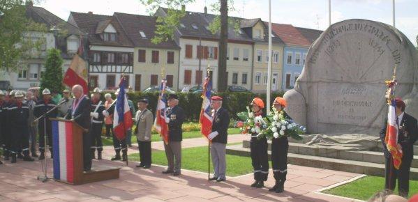 NACHTRAG 10: Gedenkfeier Waffenstillstand 1945 in Bischwiller/Elsaß