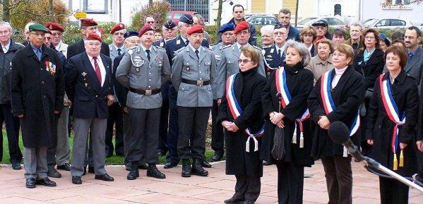 NACHTRAG 36: 11.11.2008 - 90 Jahre nach dem Ende des Ersten Weltkrieges nimmt eine Abordnung der Kreisgruppe Vorderpfalz an den Gedenkfeierlichkeiten im französischen Bischwiller teil.