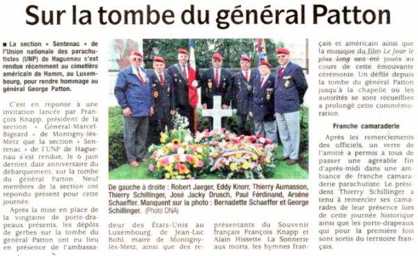 NACHTRAG 55: Juni 2011 - UNP Haguenau (671) - am Grab von Gen Patton