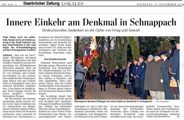 69. NACHTRAG / ADDENDUM 69: 17. November 2013 Volkstrauertag / 17th November 2013 Remembrance Day / 17ème Novembre 2013 Jour du Souvenir
