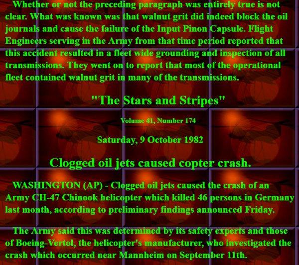 "NACHTRAG ""minus 3"": The crash of Boeing's CH-47C Chinook 74-22292 (11. September 1982 in Mannheim)"