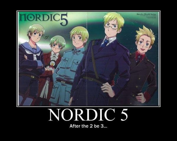 Les Nordics 5 - Poster de Motivation by moi u_u