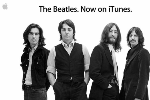 Les Beatles sur Itunes....