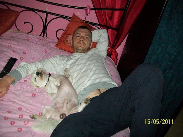 mon n'homme et mon chien