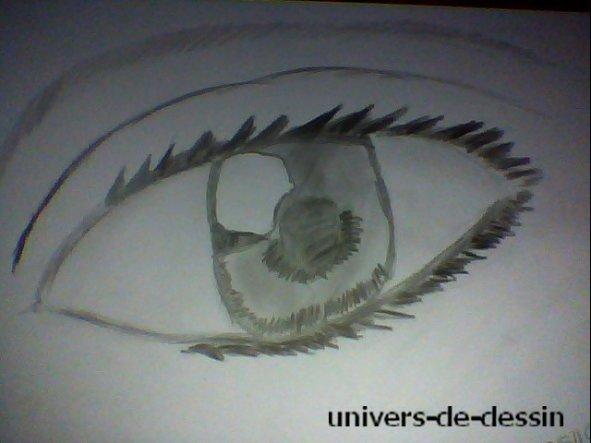 Un oeil fait à l'aide d'un tuto sur youtube : fais le  05/10/2011