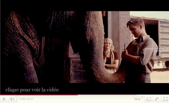 + Nouveau trailer de Water for Elephants. Juste sublime! et retrouvez dès maintenant le site officiel du film